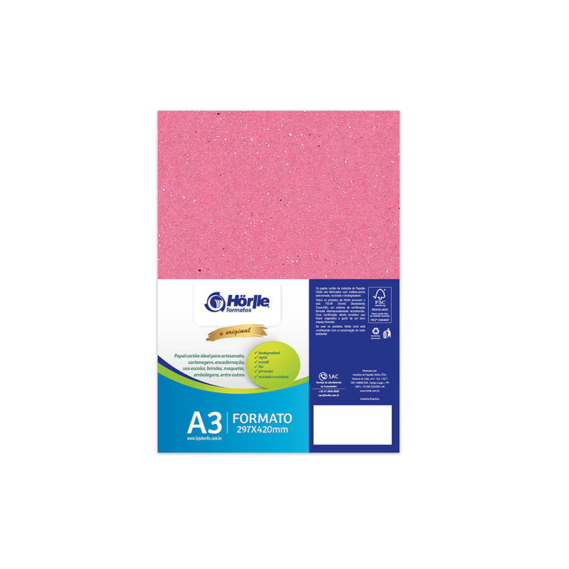 Leve 12 Pague 10 - Cartão Color Face Rosa -  Pacote com 12un