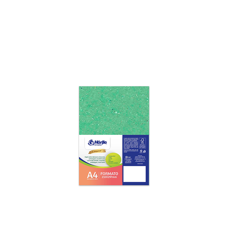 Leve 12 Pague 10 - Cartão Color Face Verde Claro -  Pacote com 12un