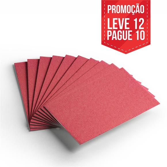 Leve 12 Pague 10 - Cartão Color Face Vermelho -  Pacote com 12un
