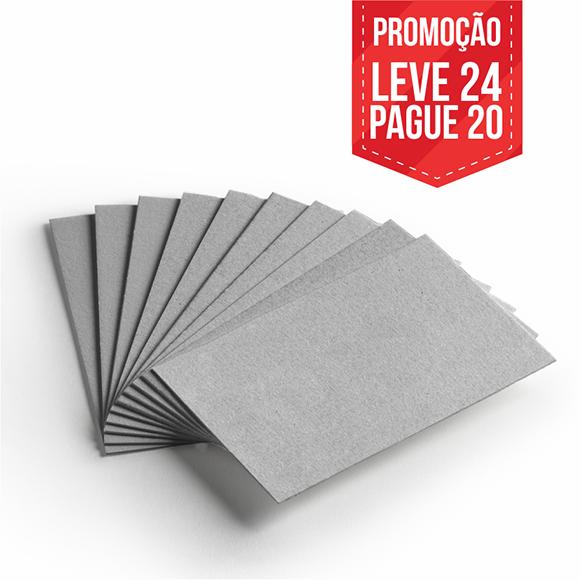 Leve 24 Pague 20 - Cartão Cinza H- Pacote com 24un