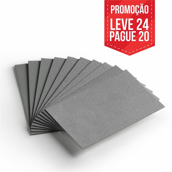Leve 24 Pague 20 - Cartão Cinza - Pacote com 24un