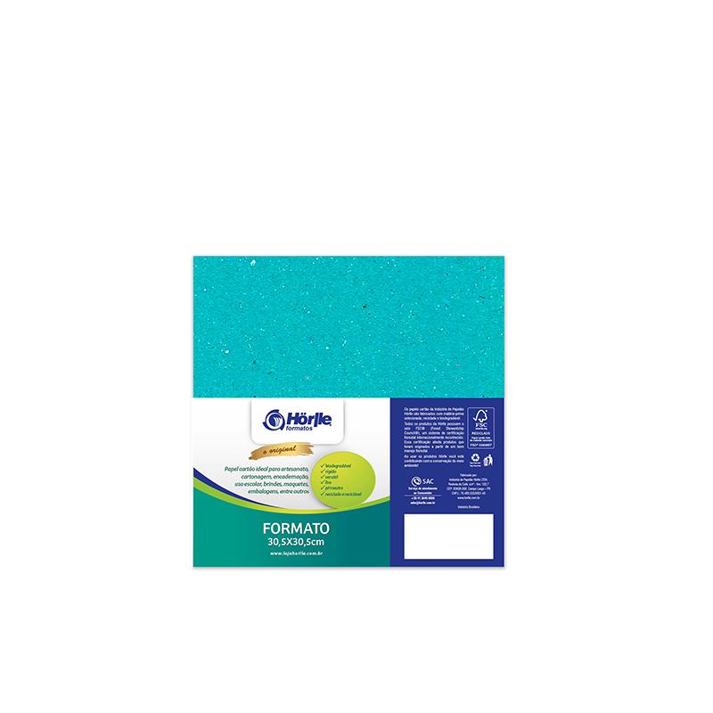 Leve 24 Pague 20 - Cartão Color Face Azul Ciano- Pacote com 24un