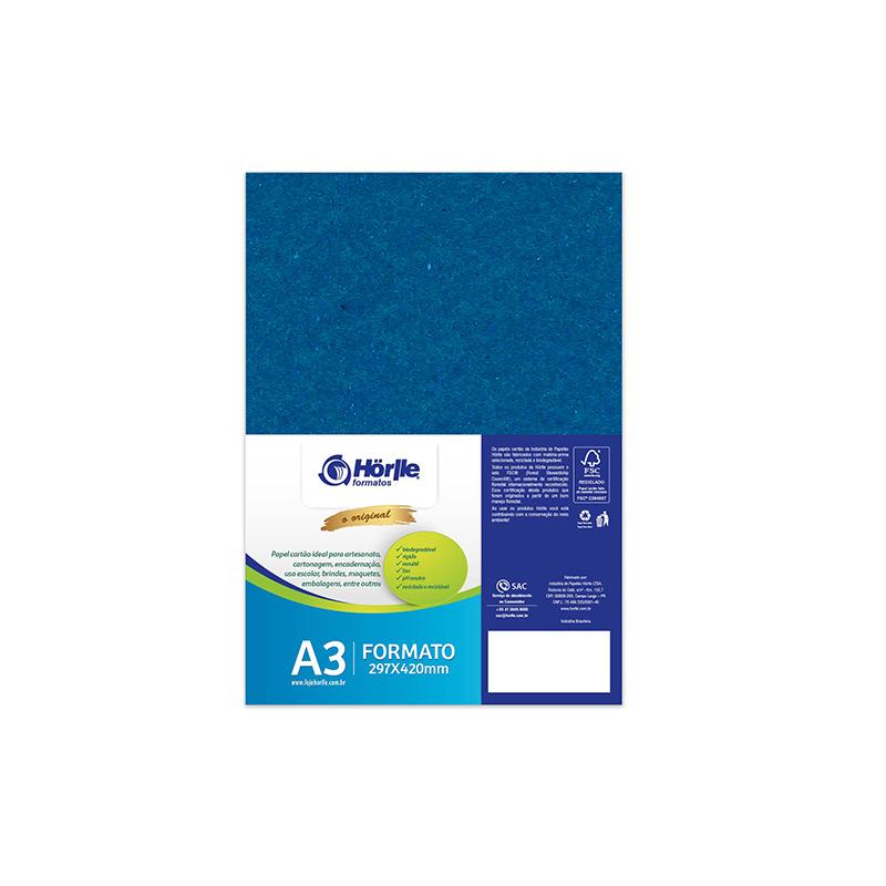 Leve 24 Pague 20 - Cartão Color Face Azul Royal- Pacote com 24un