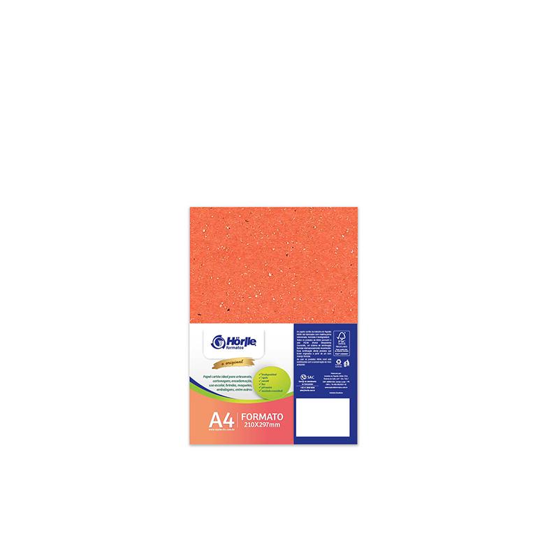 Leve 24 Pague 20 - Cartão Color Face Laranja- Pacote com 24un