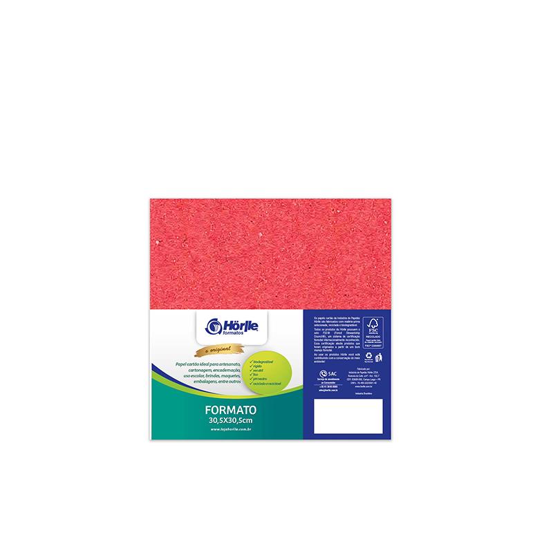 Leve 24 Pague 20 - Cartão Color Face Vermelho -  Pacote com 24un