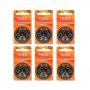 Kit Mydo com 6 Cartelas de Pilhas Auditivas A312 e Acessórios