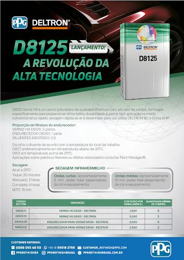 PPG DELTRON VERNIZ D8125 COM CATALISADOR - 7,5 LITROS