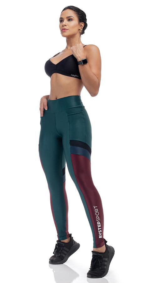 Legging Diferenciada Atlétika/Tula/Lycra Tricolor