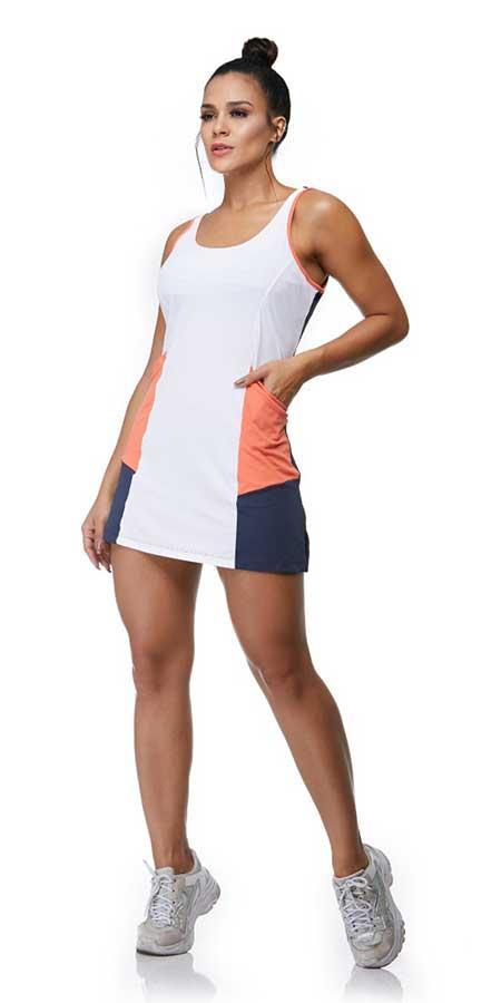 Vestido Skinfit Tricolor