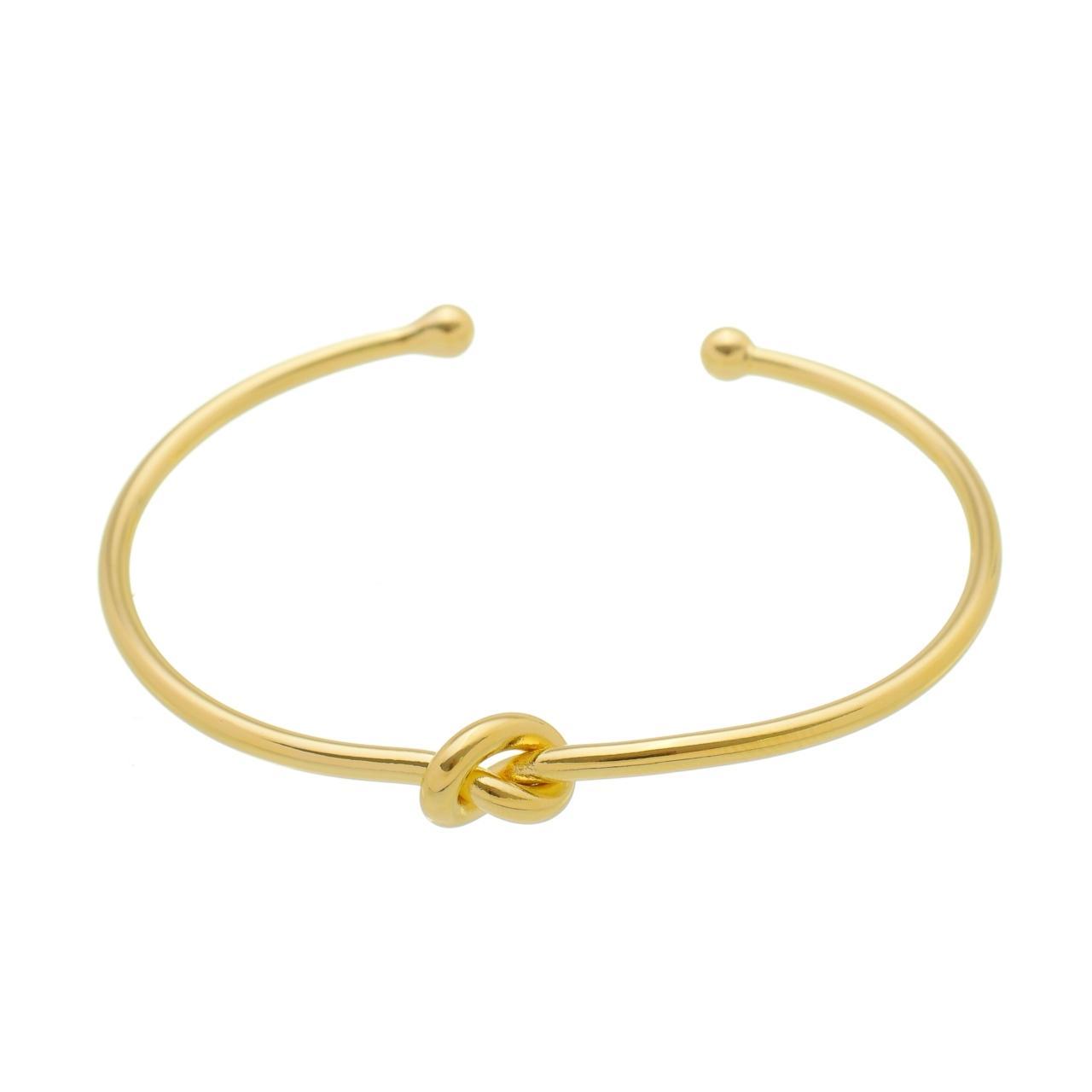 Bracelete Nó Banhada em Ouro 18K