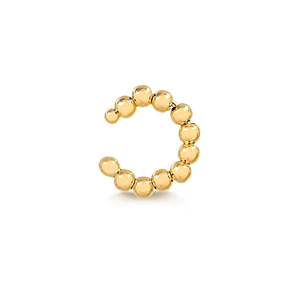 Piercing de  Pressão  com Bolinha Banhado em Ouro 18K