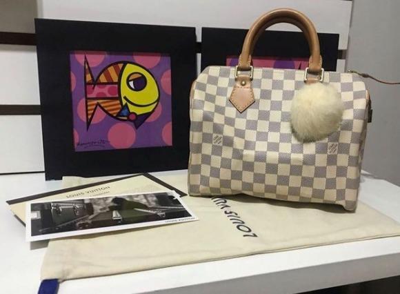 Bolsa Louis Vuitton Speedy 25 Damier Azur