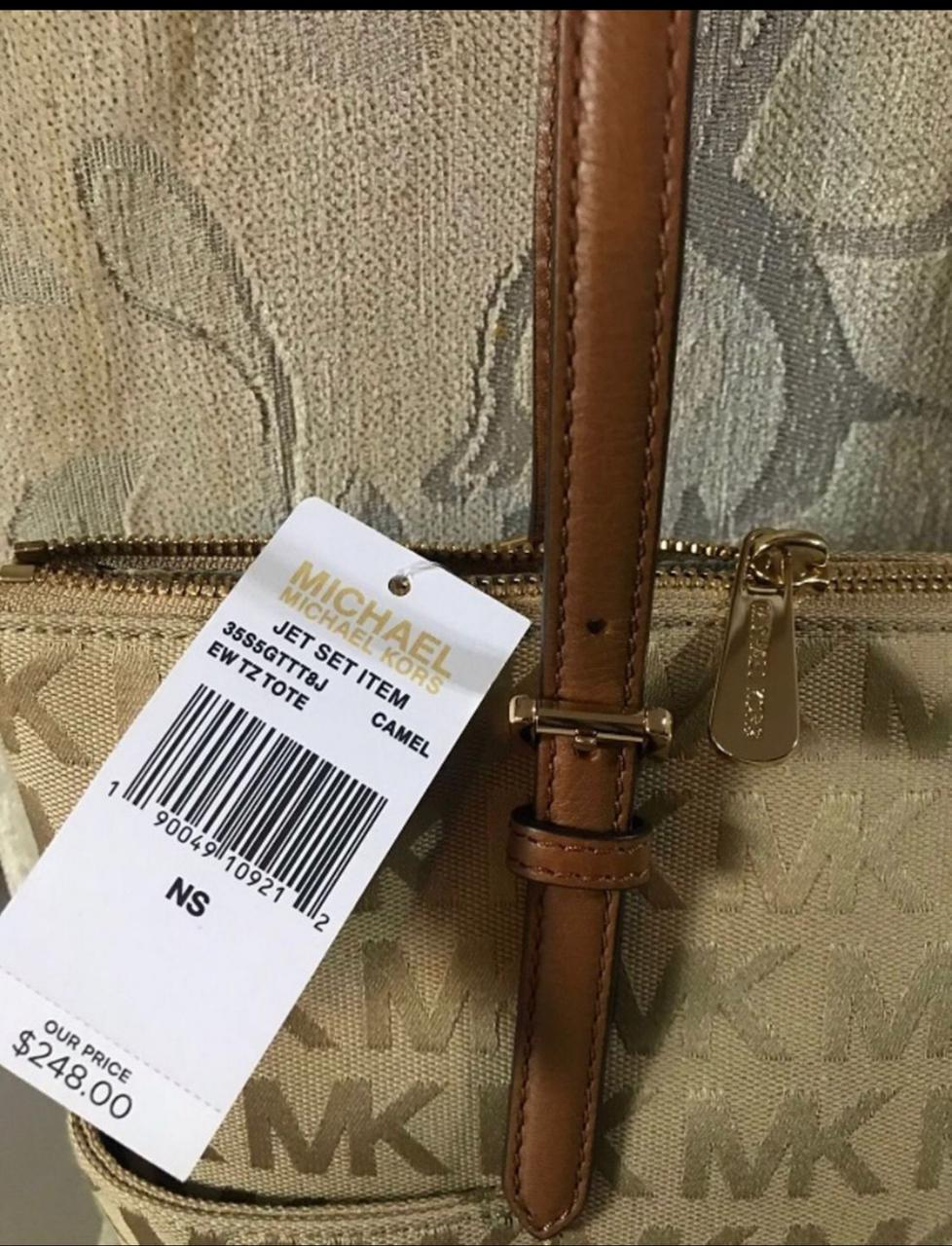 Bolsa Michael Kors Jet Set Camel