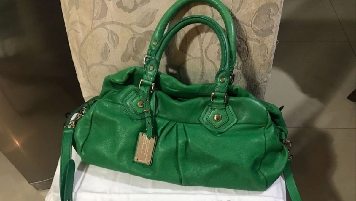 bolsa verde marc jacobs