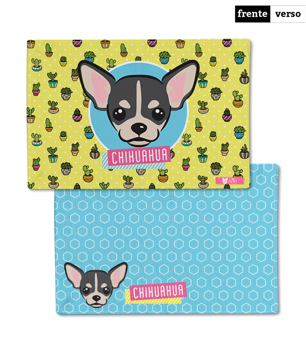 Tapete Dupla Face para Comedouro | Chihuahua
