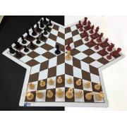 Jogo De Xadrez Para 3 Jogadores Com Tabuleiro Mouse Pad