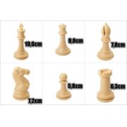 Jogo de Xadrez Profissional Staunton Peso Quádruplo