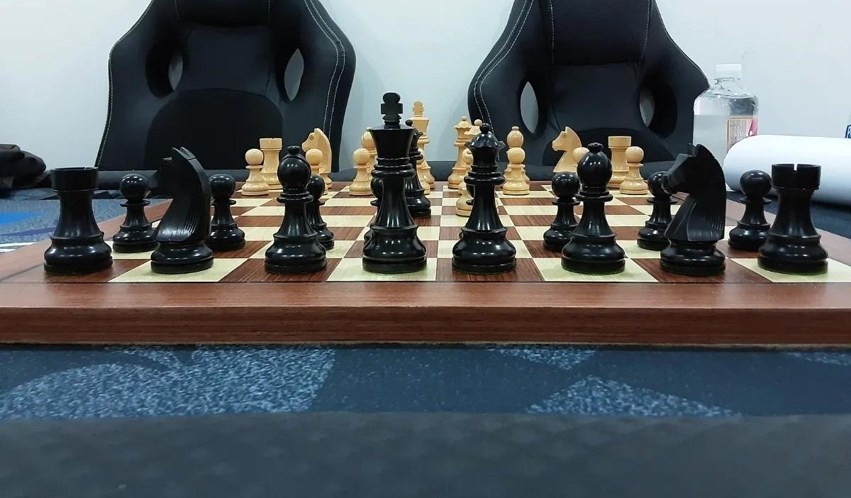 Jogo de xadrez german staunton com tabuleiro MDF