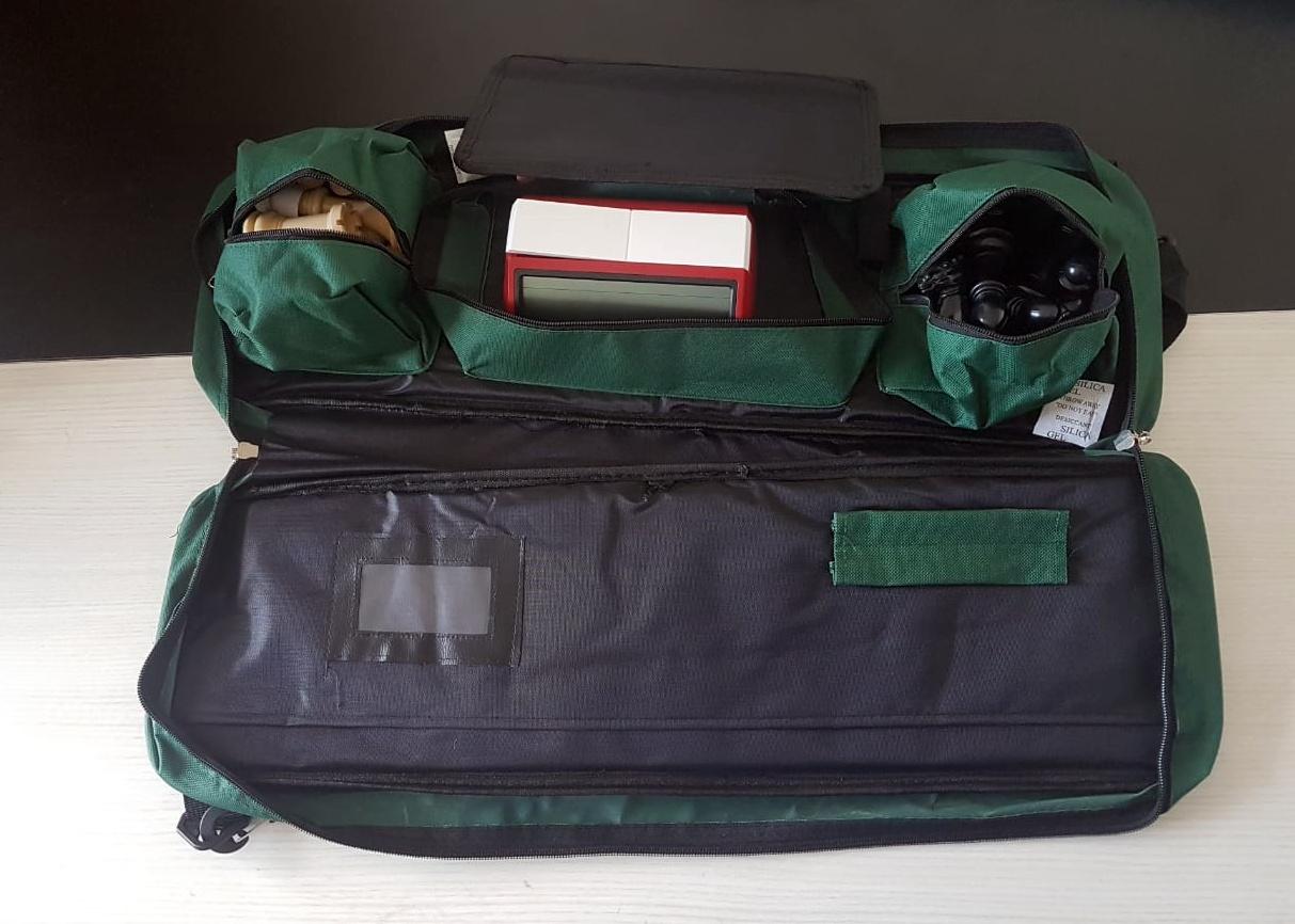 Kit jogo DGT + bolsa delux + tabuleiro mouse pad + relógio leap azul