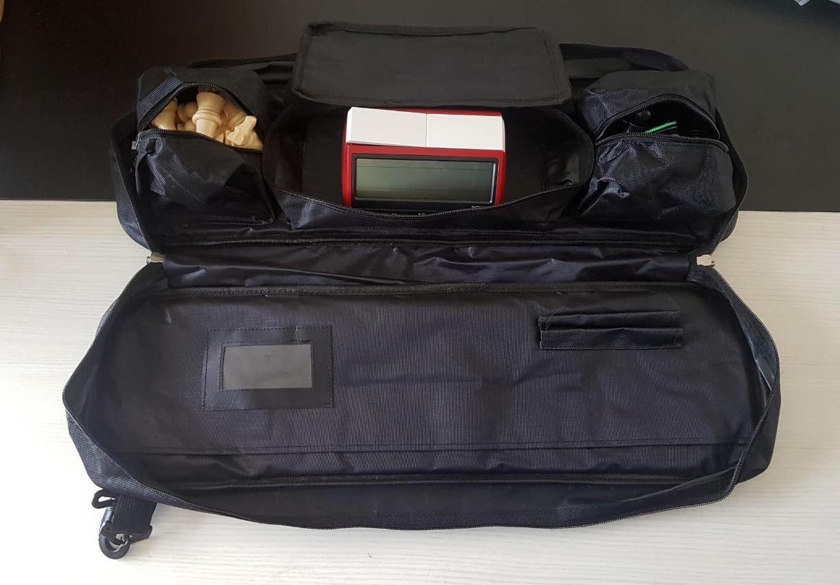 Kit jogo marshall + bolsa delux + tabuleiro mouse pad + relógio leap azul