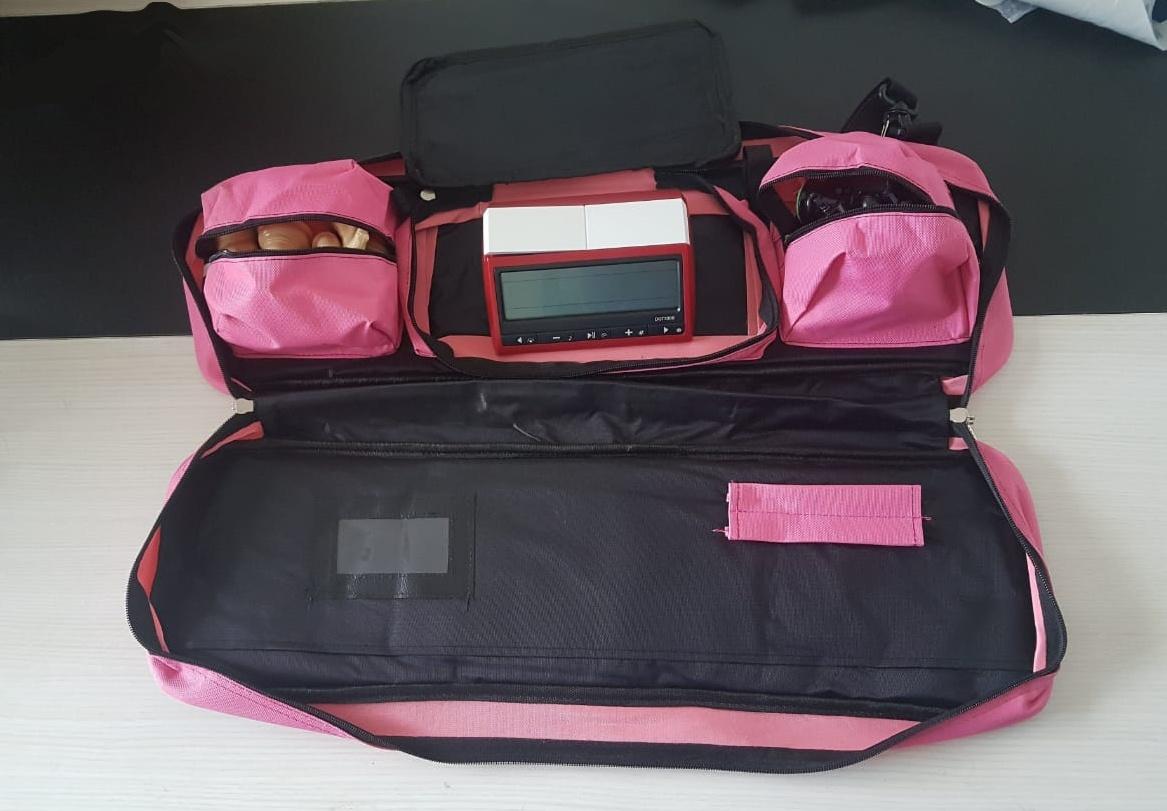 Kit jogo staunton + bolsa delux + tabuleiro mouse pad + relógio leap azul