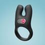 Nos Anél Peniano PRIME Estimulador de Clitóris Vibratório Duplo Para Casais e Namorados com 2 motores vibradores Recarregável Mega Stretch - Retardante para Ele e Estimulador para Ela - FUN FACTORY