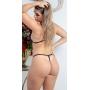 Conjunto Lingerie Sexy Com Sutiã e Calcinha Pretas Com Abertura - SD CLOTHING