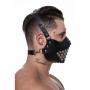 Máscara de Couro Com Detalhes em Metal Sado - SD Cothing