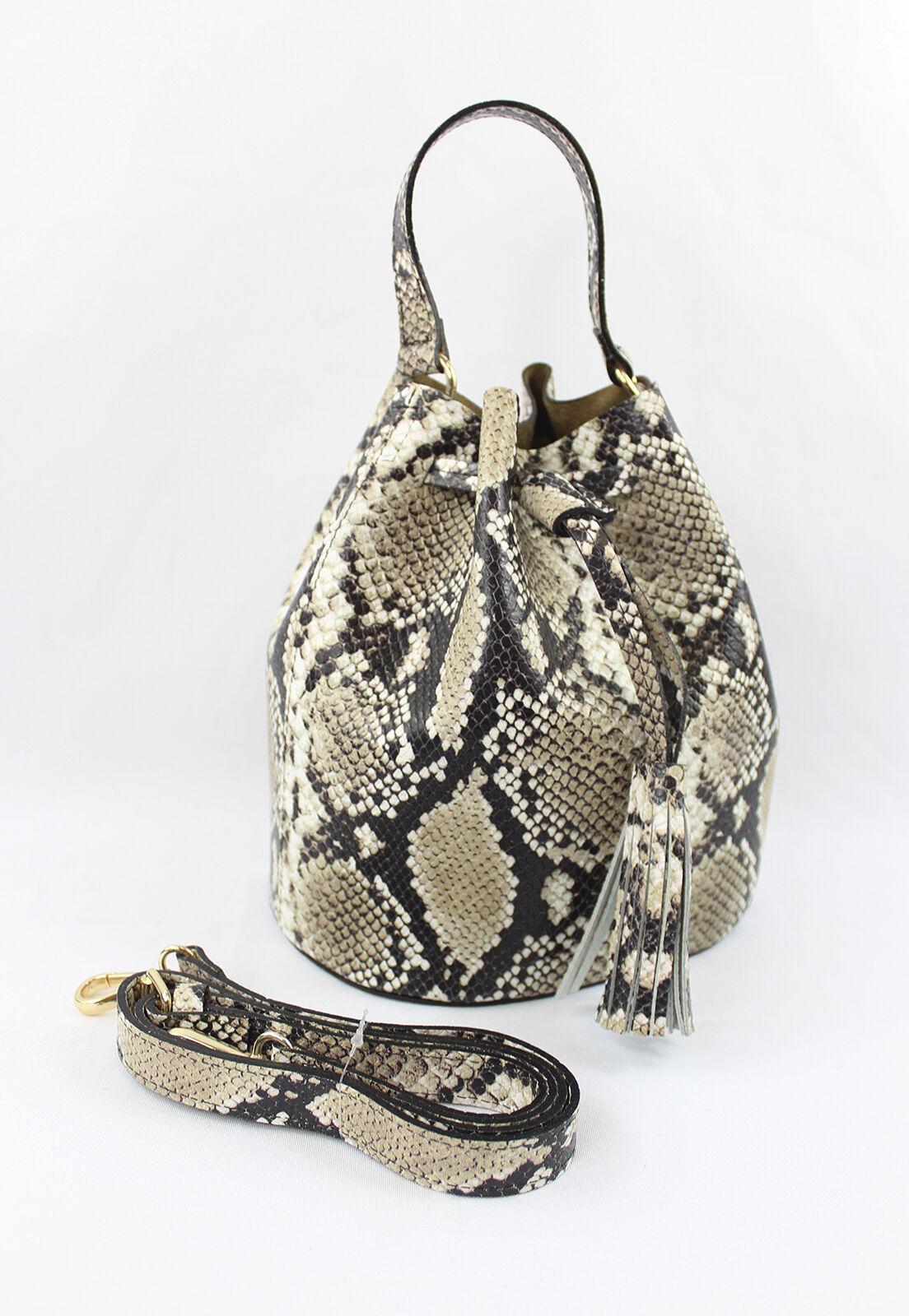 Bolsa Crisfael Couro Cobra