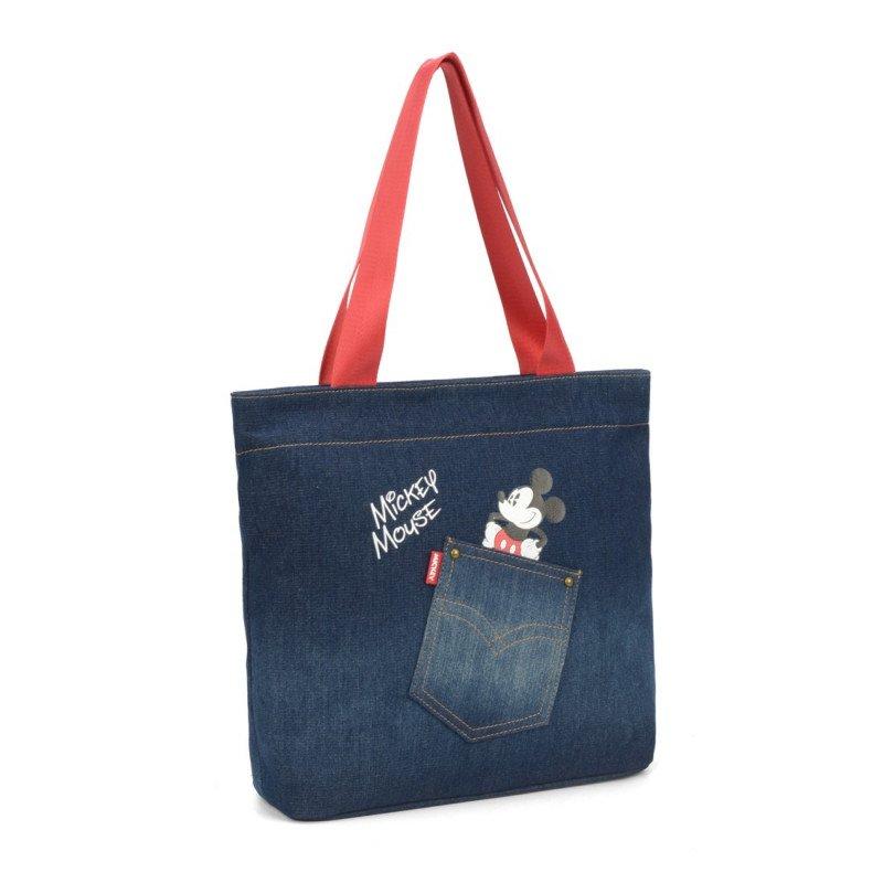 Bolsa Feminina Tote Disney Mickey Jeans