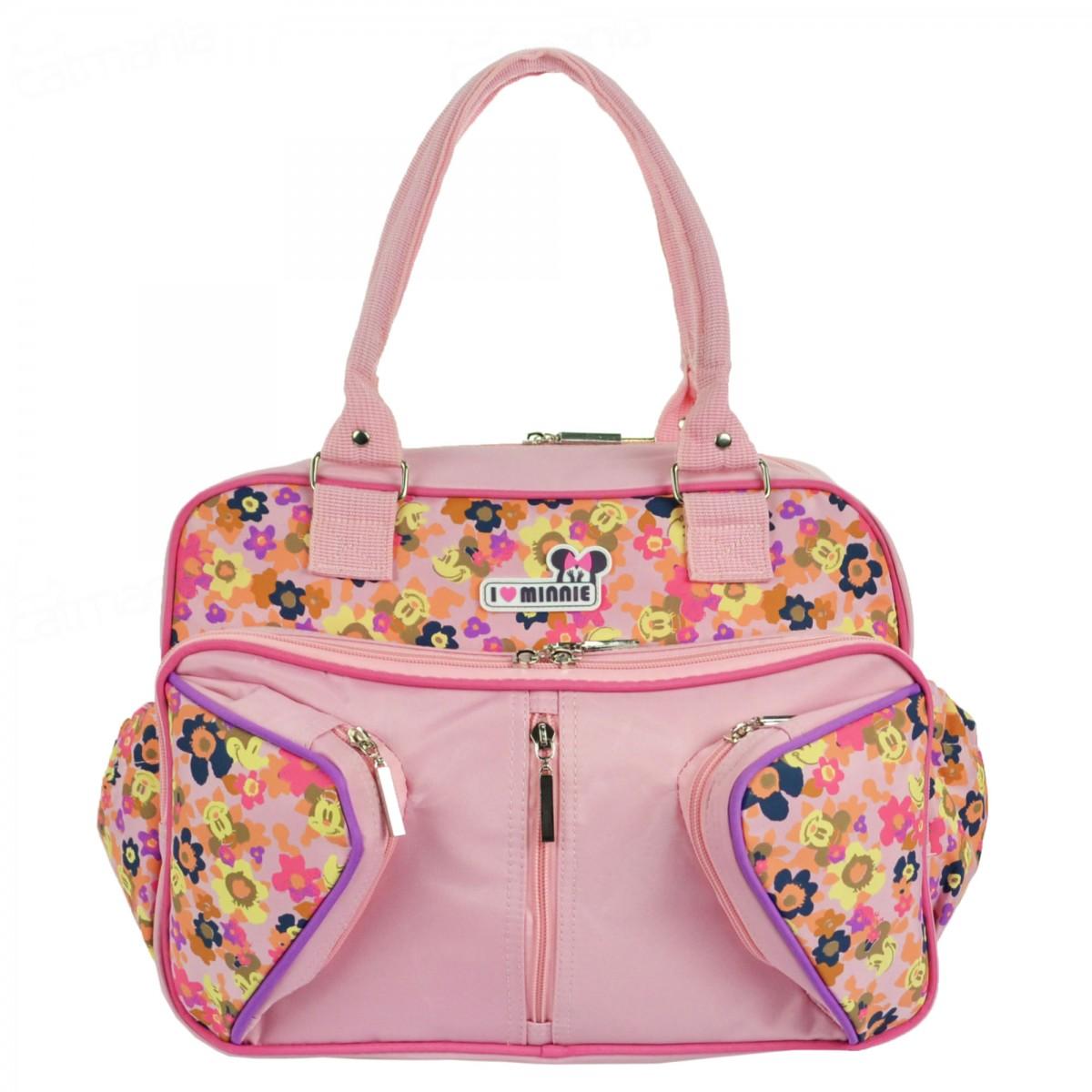 Bolsa Maternidade Disney Minnie Média Rosa