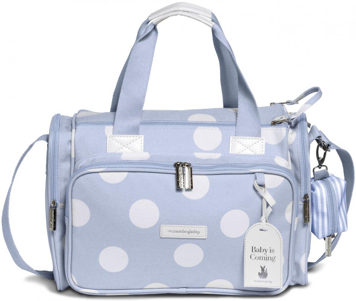 Bolsa Maternidade Térmica MasterBag Baby Anne Bubble   Cor: Azul