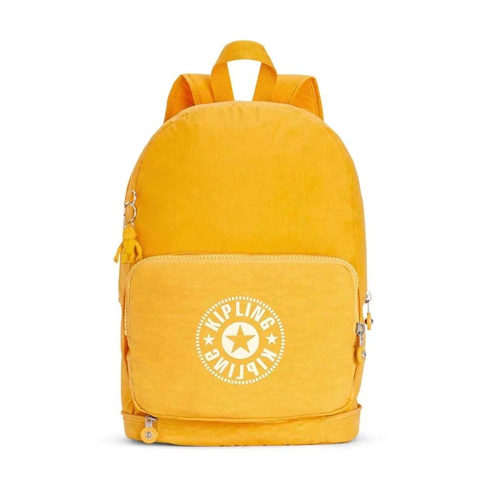 Bolsa Mochila Kipling Classic Nimam Fold | Cor: Lively Yellow