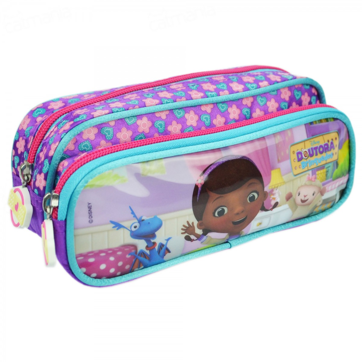 Estojo Doutora Brinquedos 2 compartimentos 60169 | Cor: Roxo