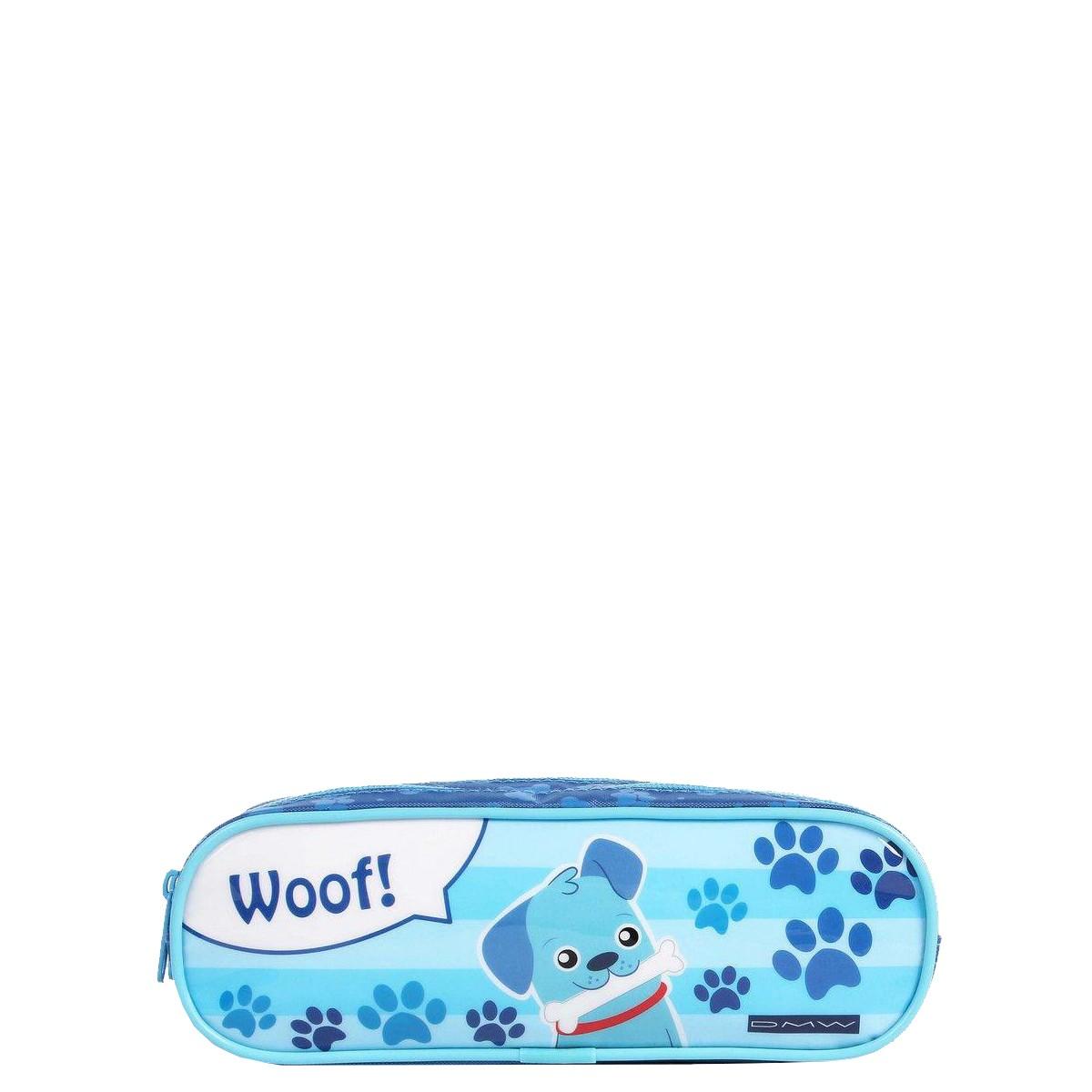 Estojo Duplo Cachorro | Cor: Azul