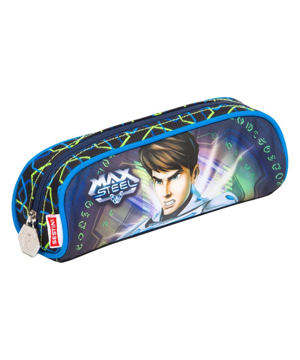 Estojo Max Steel 15Z - 64338   Cor: Azul
