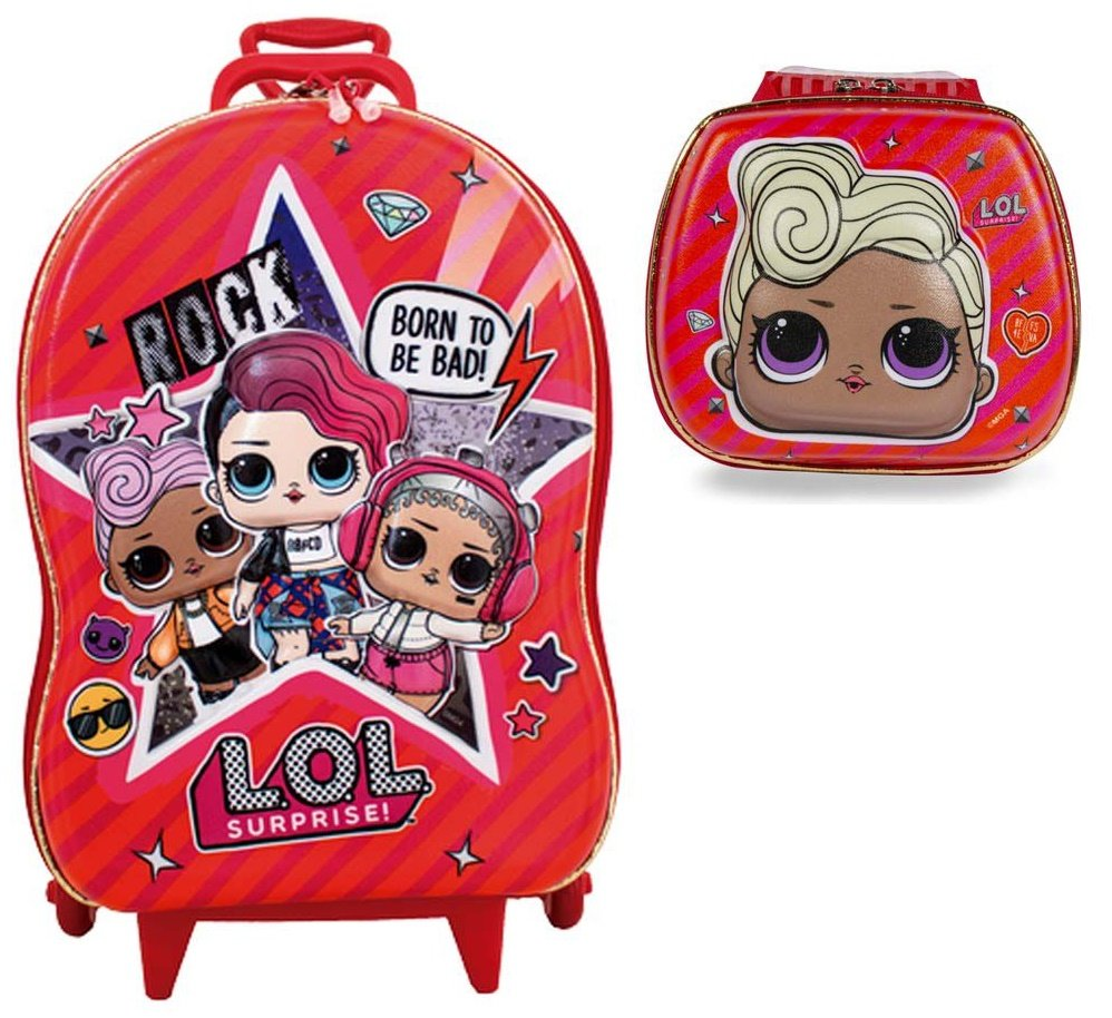 Kit 3D LOL Mochila e Lancheira MC Rosa