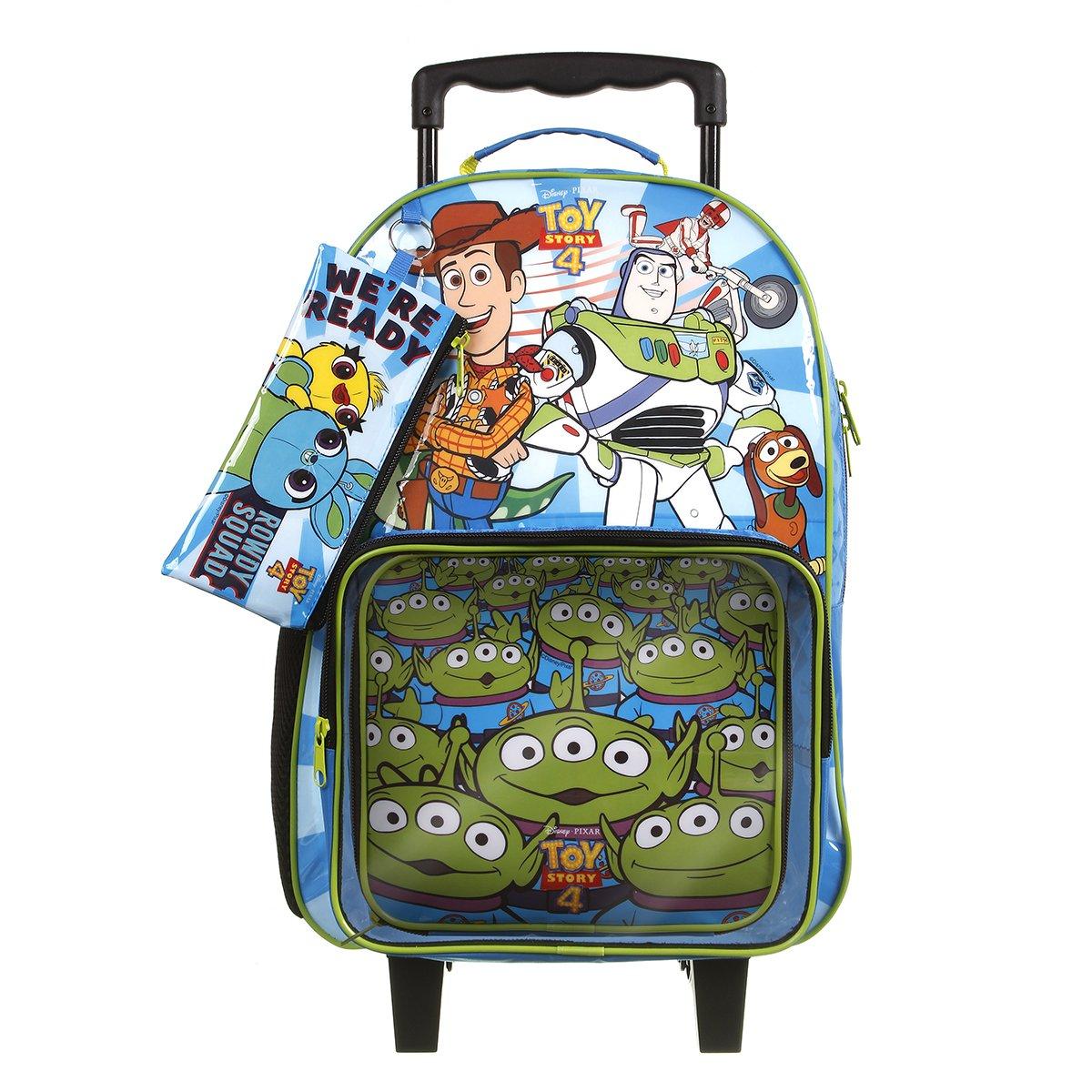 Kit Escolar Toy Story Mochila + Lancheira + Estojo Azul