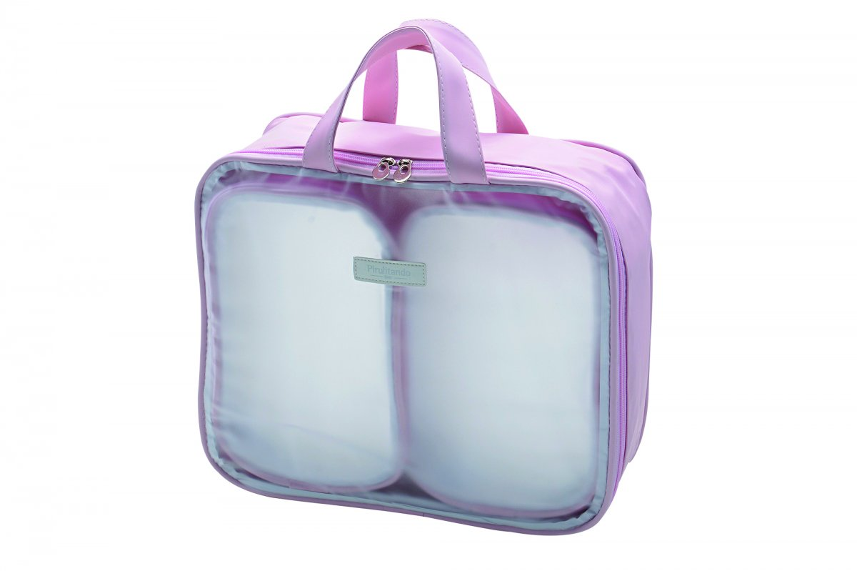 Kit Organizador de Mala Maternidade Pirulitando Conforto com 3 peças Rosa
