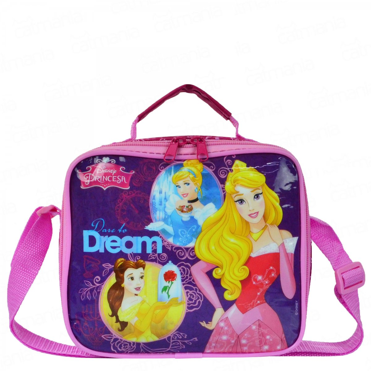 Lancheira Térmica Disney Princesa Dare to Dream | Cor: Rosa