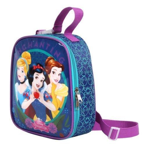 Lancheira Térmica Princesas Disney  | Cor: Azul