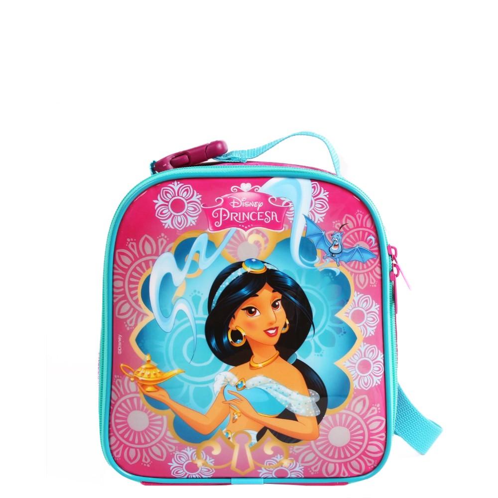 Lancheira Térmica Princesas Disney Jasmine   Cor: Azul