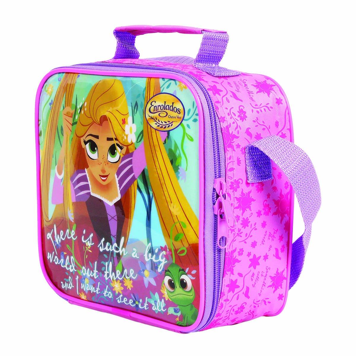 Lancheira Térmica Rapunzel Enrolados Outra Vez | Cor: Rosa/Lilás