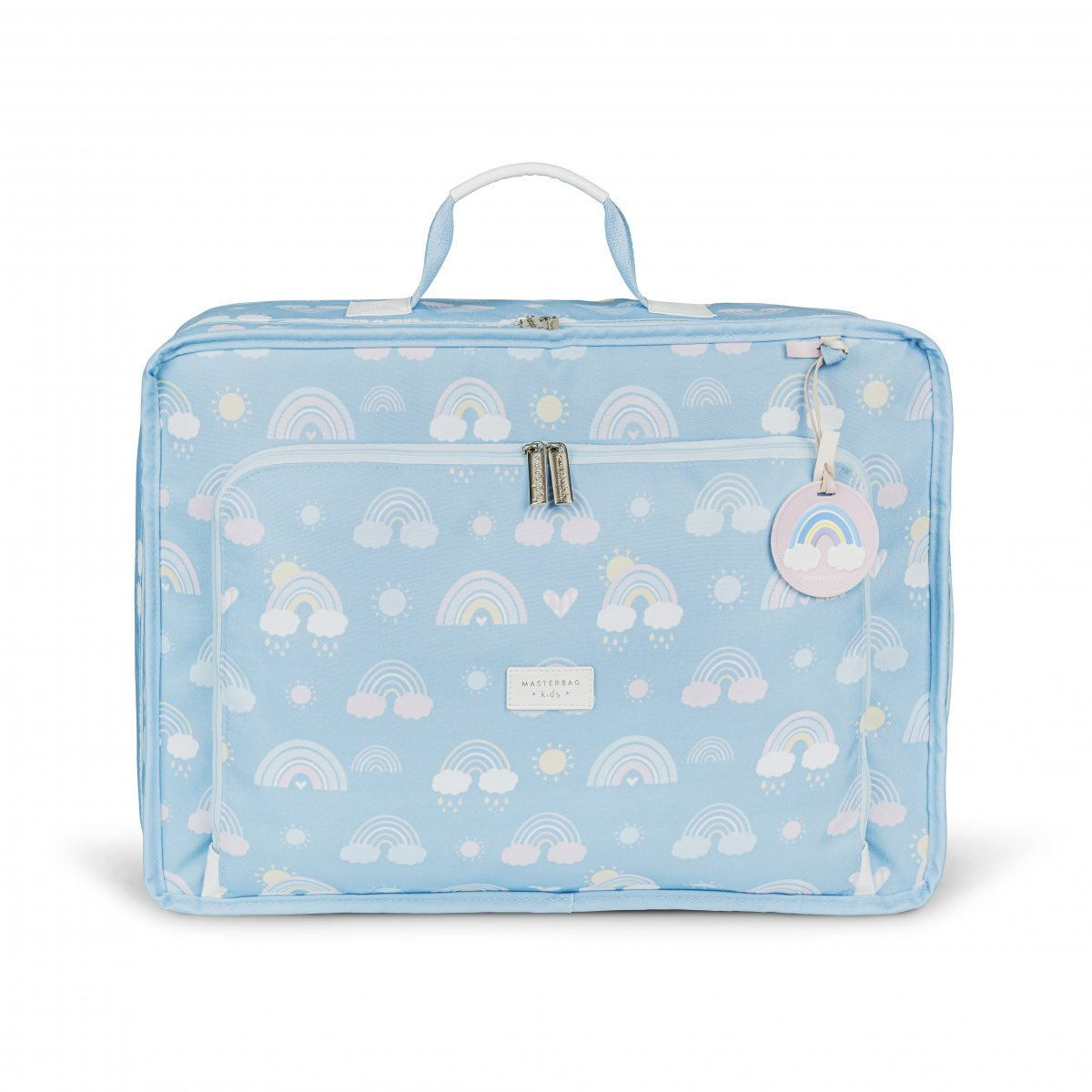 Mala Maternidade Vintage Arco-íris Masterbag Azul