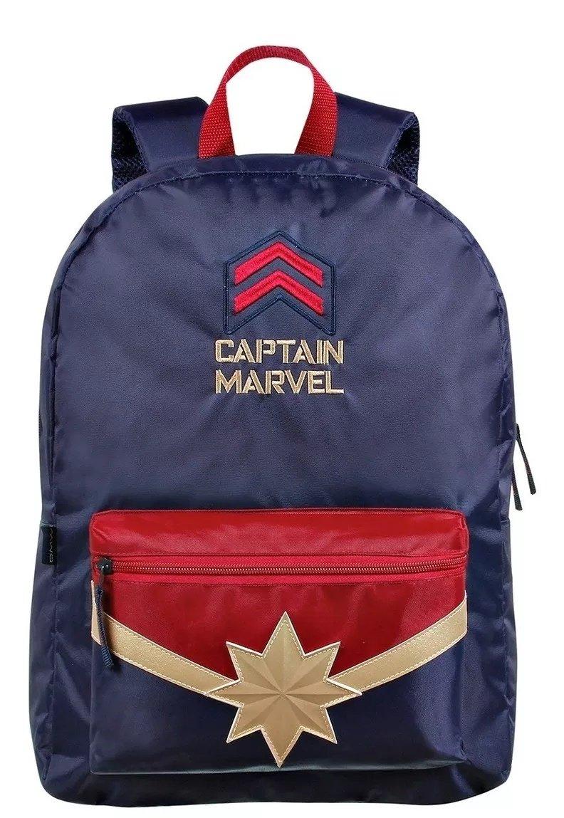 Mochila Capitã Marvel  Azul