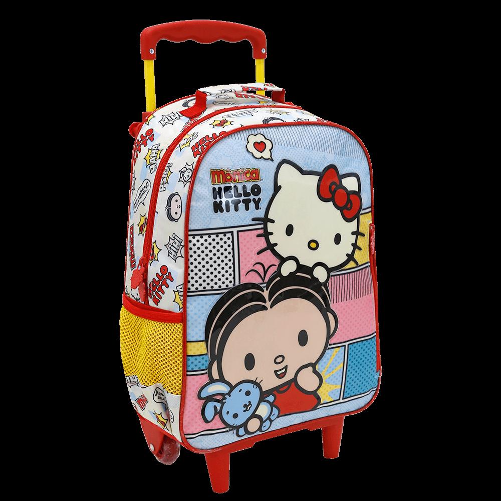 Mochila de Rodinhas Hello Kitty - Mônica BFF | Cor: Vermelho