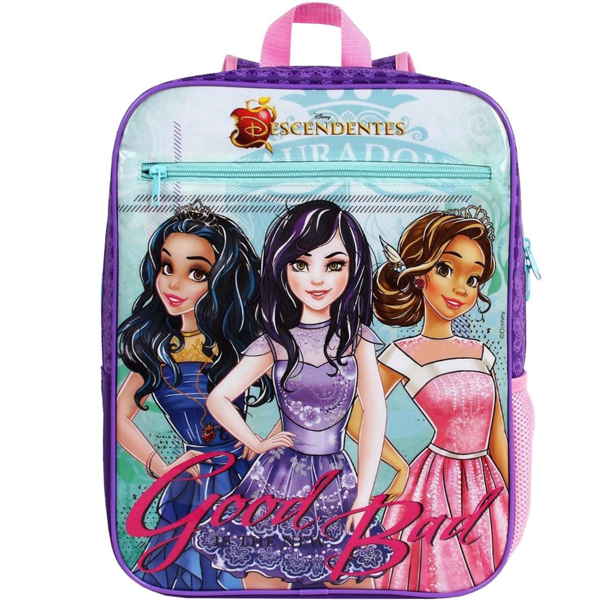 Mochila Escolar Descendentes Disney Good Bad | Cor: Roxo