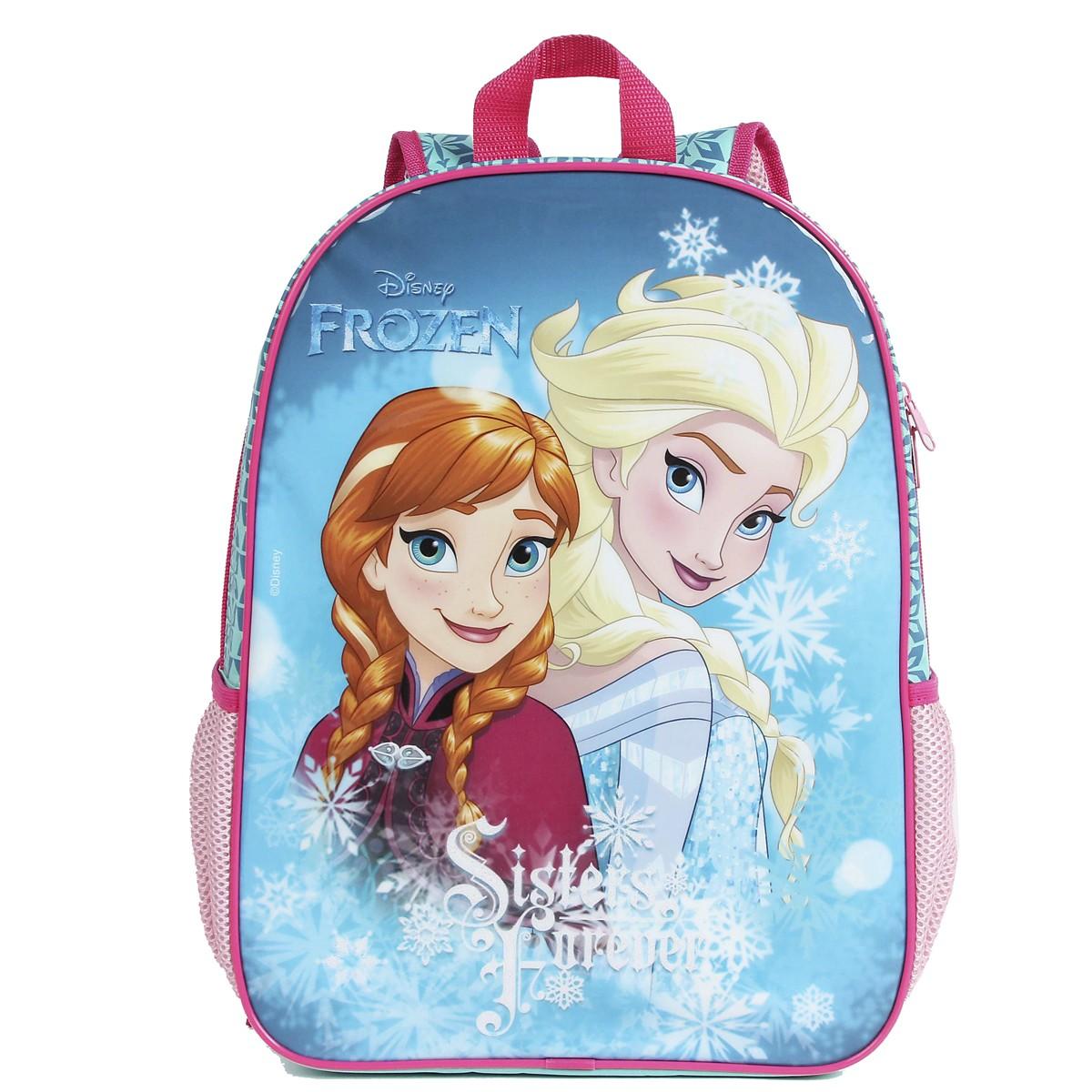 Mochila Escolar Frozen Sisters Forever | Cor: Verde àgua