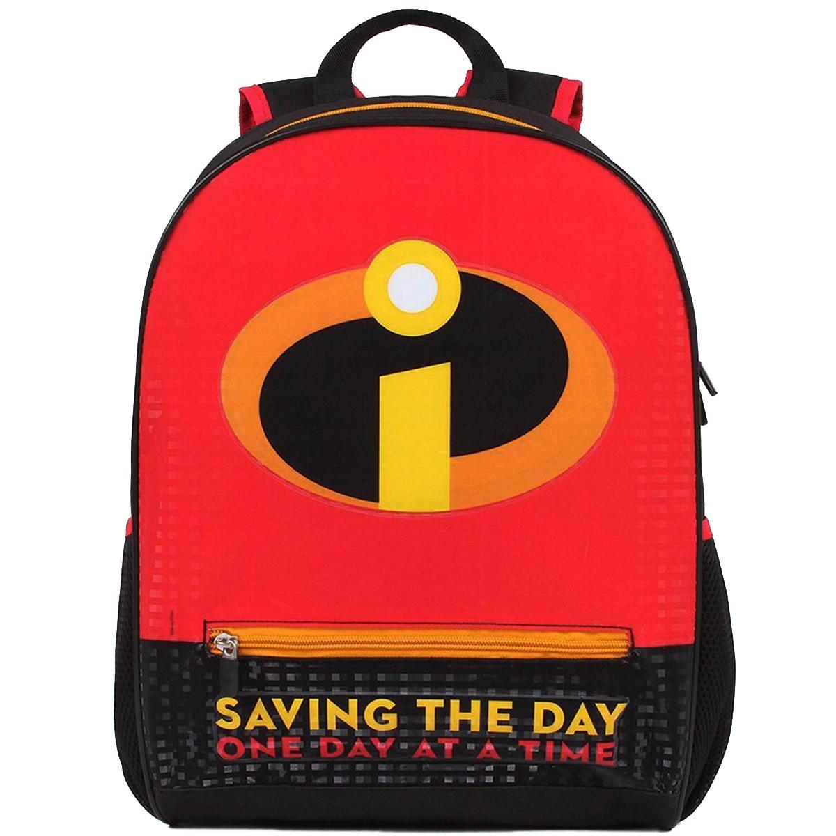 Mochila Escolar Os Incríveis Saving the day   Cor: Preto