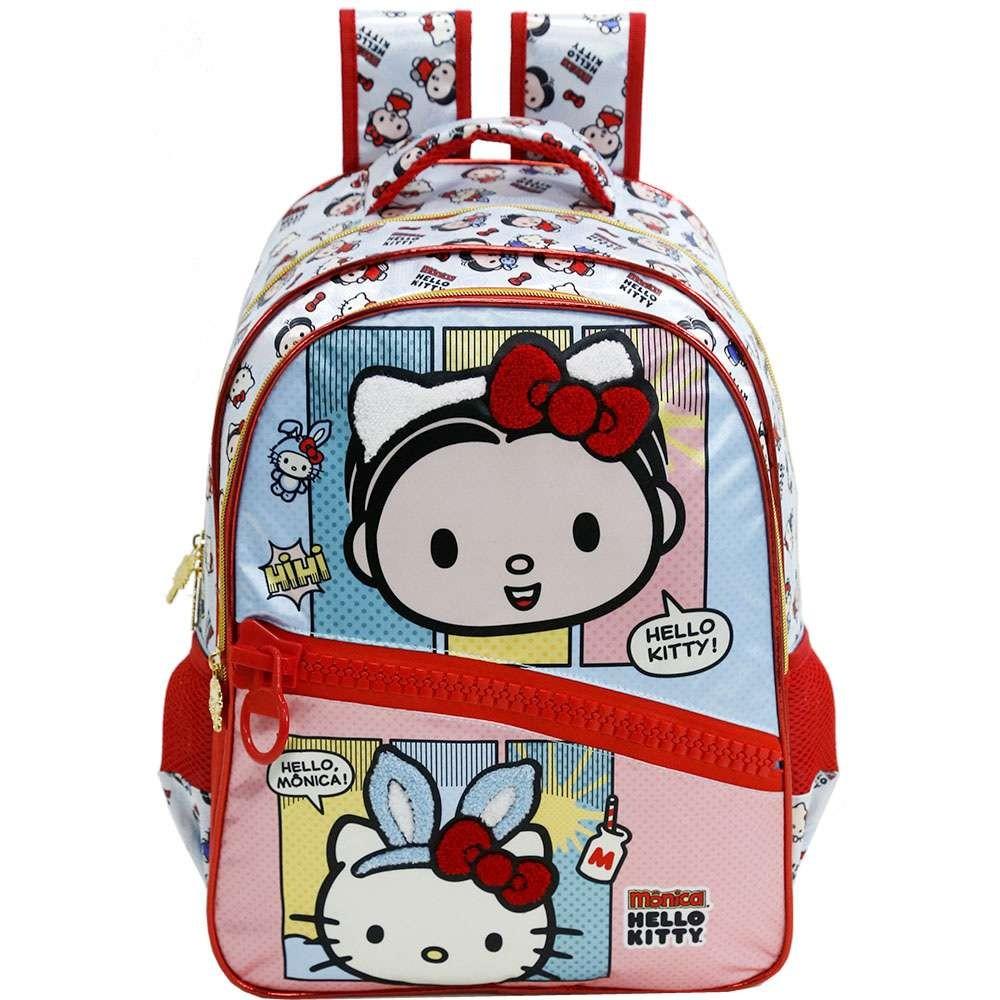 Mochila Hello Kitty Mônica - Hello Mônica Vermelha